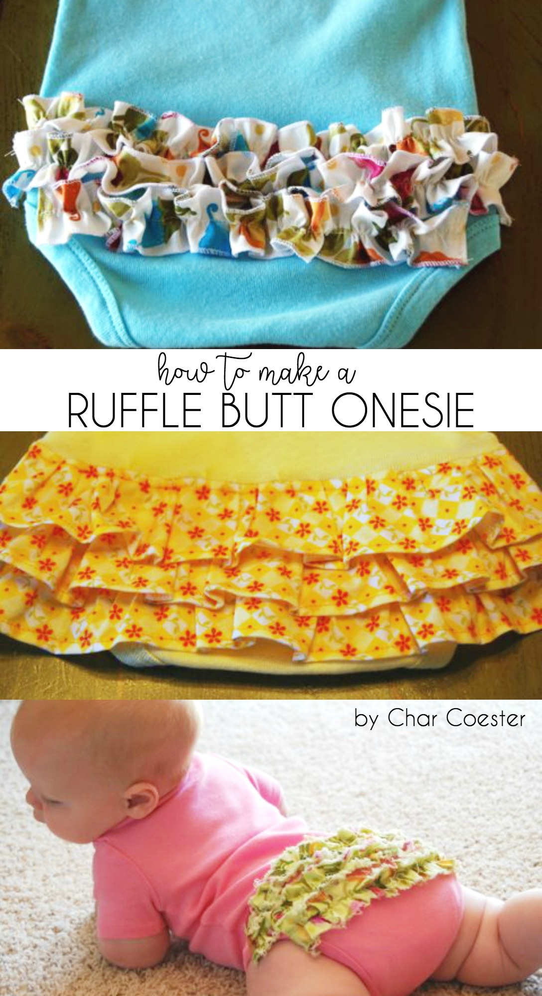How to Make a Ruffle Butt Onesie by Char Coester