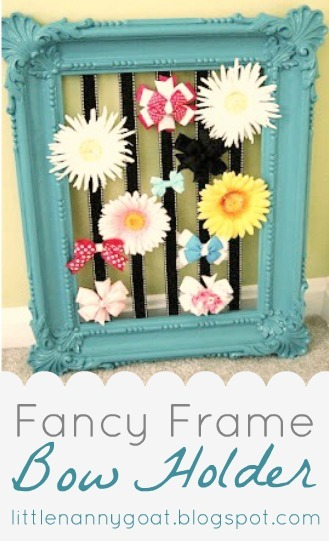 Fancy Frame Bow Holder Tutorial