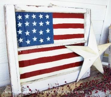 DIY Painted Flag Tutorial