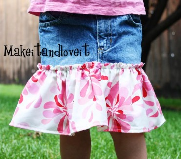 Denim Twirly Skirt Tutorial by Make It Love It