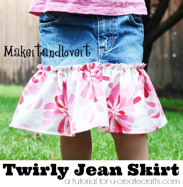 Twirly Jean Skirt Tutorial