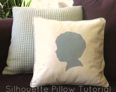 Silhouette Pillow Tutorial