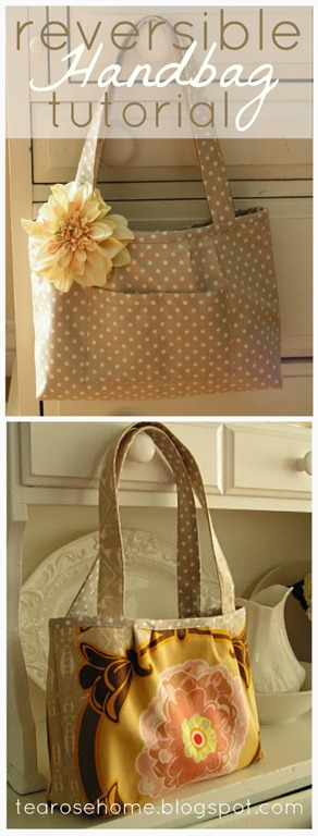 DIY Reversible Tote Tutorial by Tea Rose Home