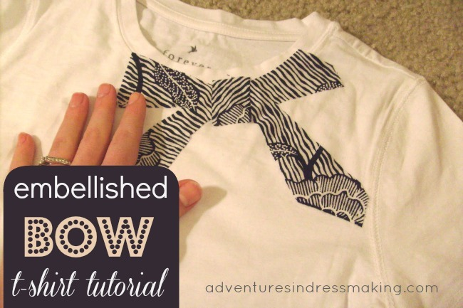 Embellished Bow Tee Tutorial