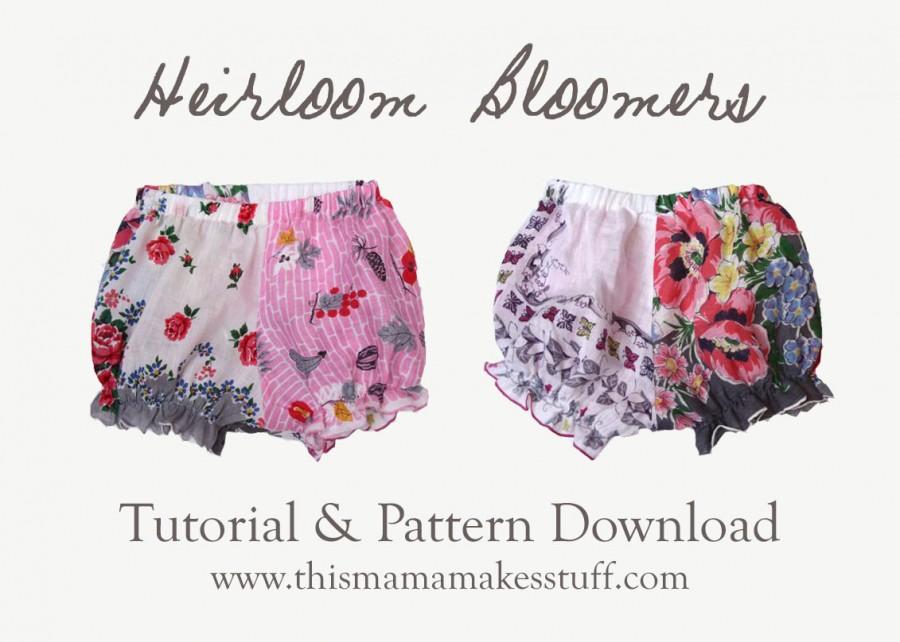 Heirloom Bloomers Tutorial - U Create