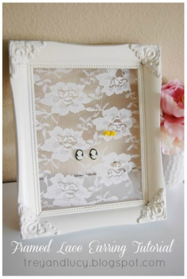 Lace Earring Holder Tutorial