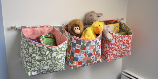 Superb Hanging Fabric Storage Baskets