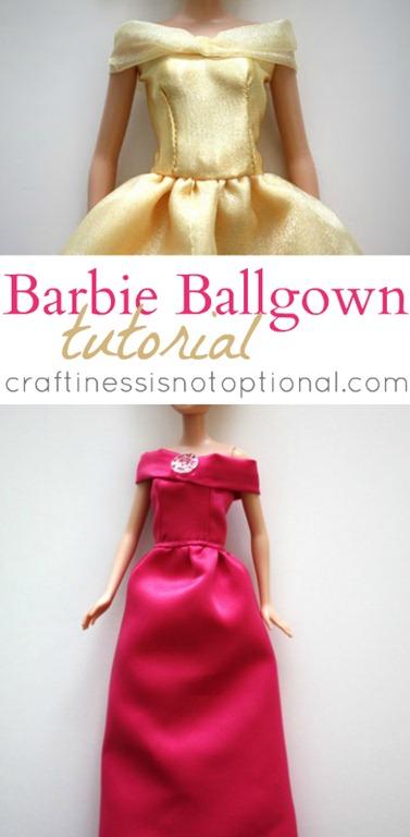 Barbie Ball Gown Tutorial U Create