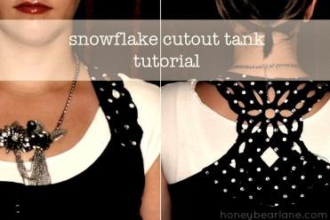 Snowflake Cutout Tank Tutorial