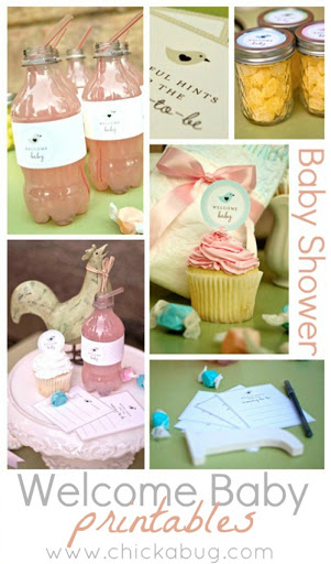Baby Shower Free Printables by Chickabug