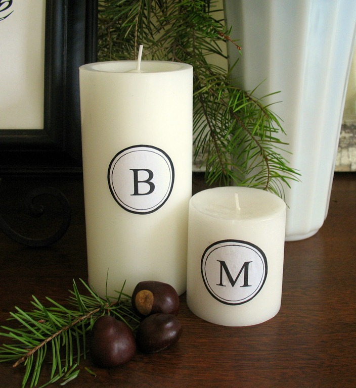Monogram Candles by The Pink Peony of Le Jardin