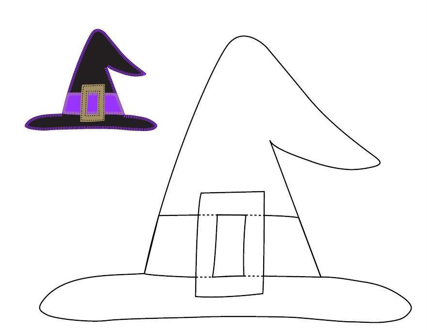 Halloween Applique Witch Hat Tutorial - U Create