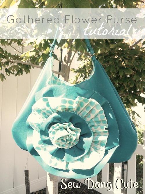Flower Purse Tutorial by Sew Dang Cute