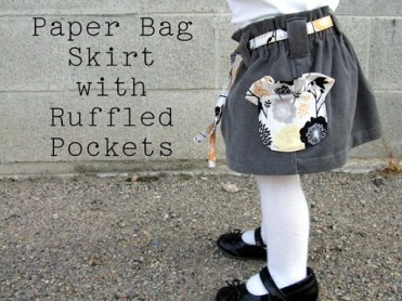 Paper Bag Skirt Tutorial by Lemon Squeezy Home