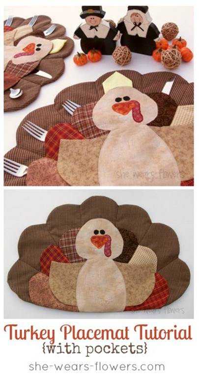turkey placemat tutorial by she wears flowers