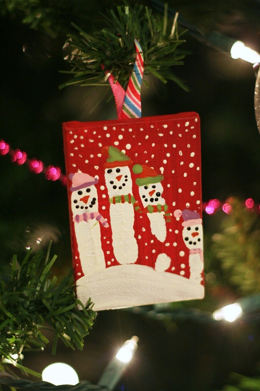 DIY Snowman Canvas Ornament