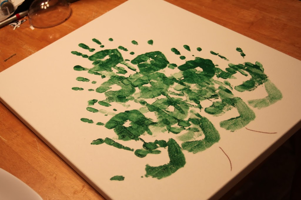 Hand Print Christmas Tree Tutorial