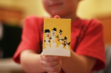 Handprint Snowman Tutorial by eighteen25