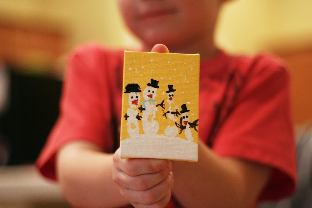 Handprint Snowman Ornament Tutorial