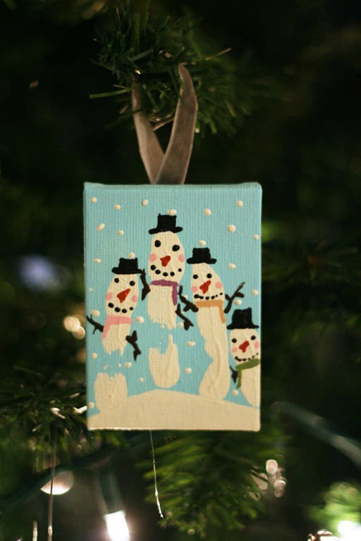 Snowman Handprint Ornament by eighteen25