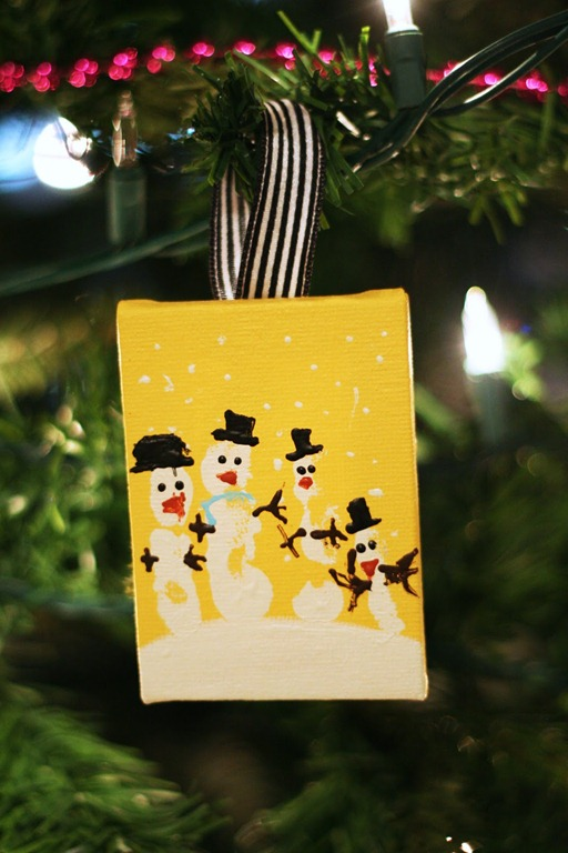 Snowman Handprint Ornament by eighteen25