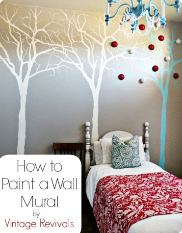 How to Paint a Tree Mural by Vintage Revivals
