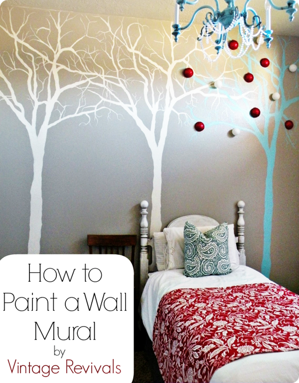how to paint a wall mural by vintage revivals!