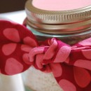 Fabric Bow Mason Jar Christmas Gift Idea