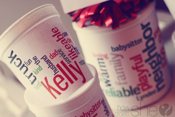 How to make a personalized hot chocolate gift by How Does She