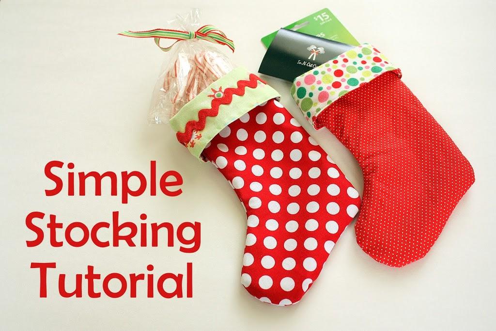 Simple Mini Stocking Tutorial - U Create