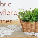 Snowflake Table Runner Tutorial by V and Co
