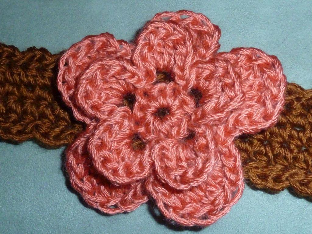 Crocheted Flower Headband Tutorial U Create