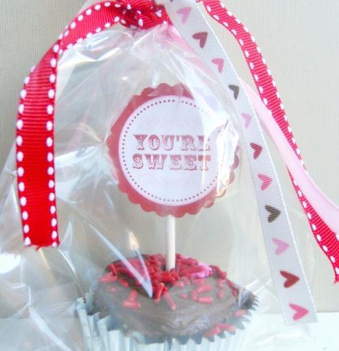 valentine cupcake topper printable