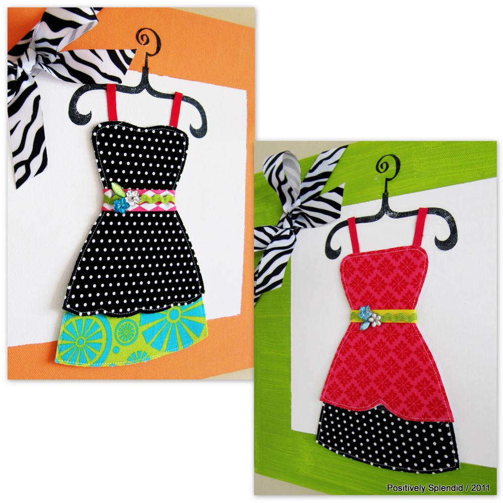 How to make a dress-up art canvas by Positively Splendid!