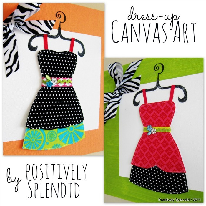 Dress-up Canvas Art Tutorial by Positively Splendid