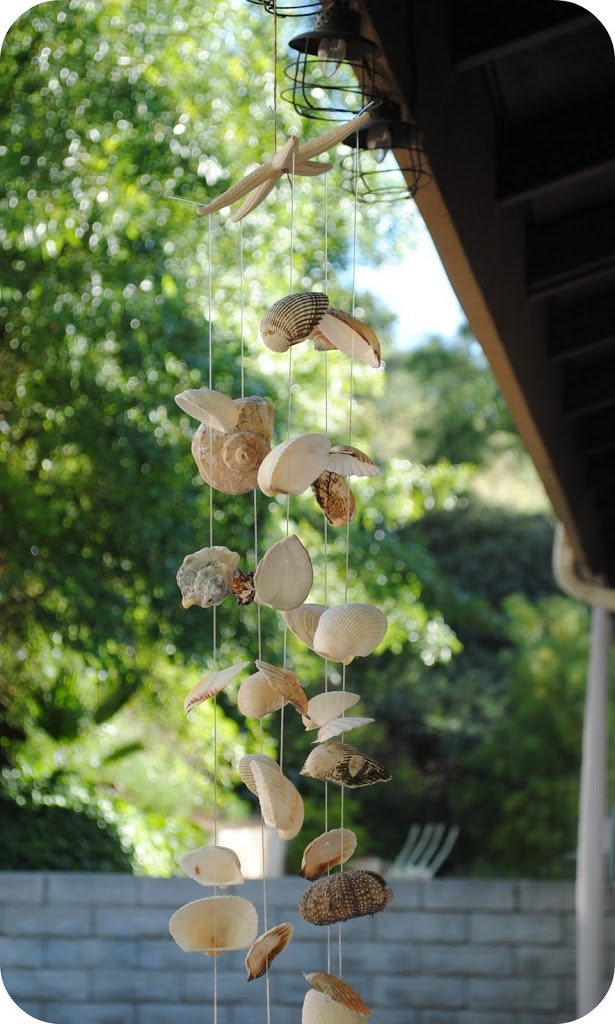 sea shell wind chime tutorial