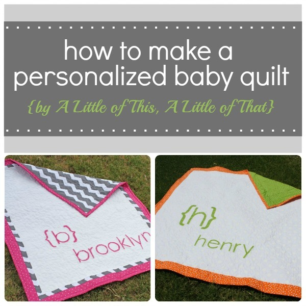 Personalized Baby Quilt by A Little of This...