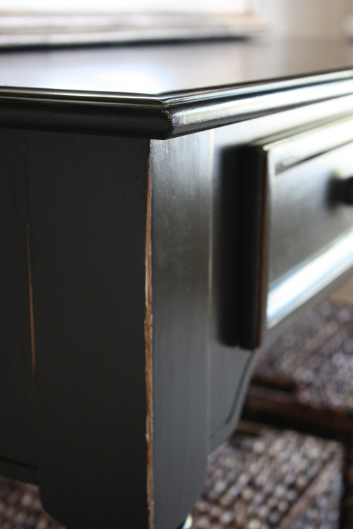 Beautiful Black Furniture Finish Tutorial by The Yellow Cape Cod