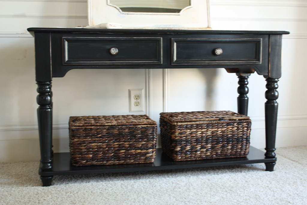 How To Get a Beautiful Black Finish - Pottery Barn Style by The Yellow Cape Cod