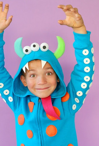 hoodie monster costume