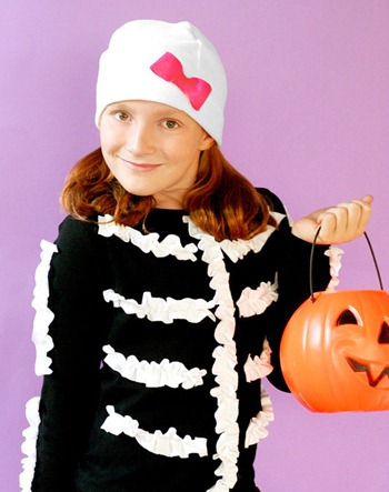 ruffle skeleton costume
