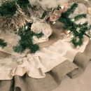 Burlap Lace Tree Skirt Tutorial