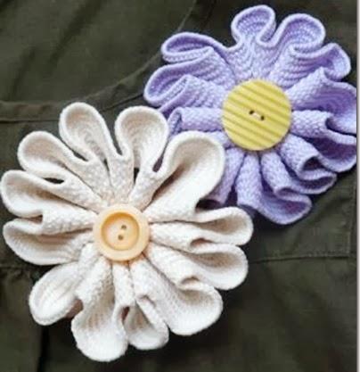 jumbo ric rac flower tutorial