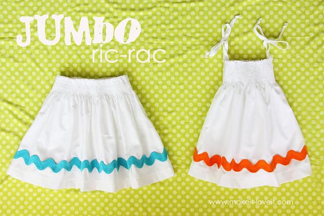 Jumbo Ric Rac Skirt Tutorial