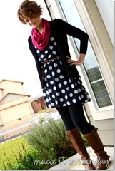 polka dot tunic top