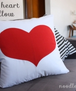 Red Heart Pillow Tutorial