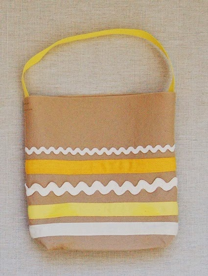 ric rac and ribbon tote bag