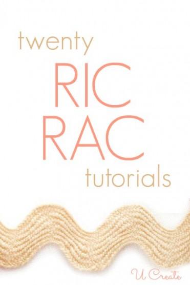 Tons of Ric Rac Tutorials