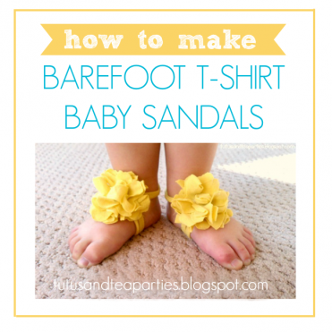 Barefoot Baby Sandals Tutorial