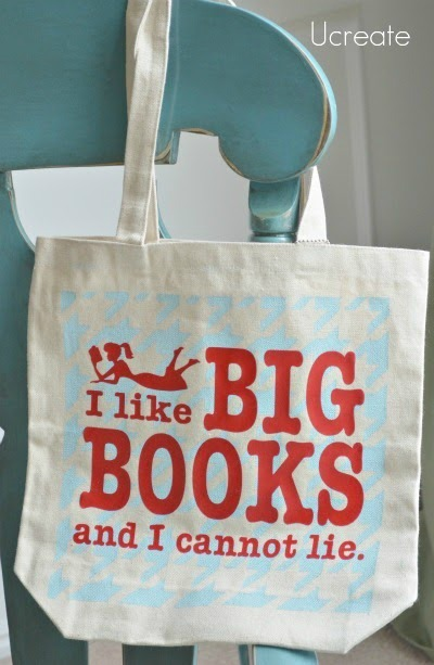 Big Books Tote Tutorial with library pocket